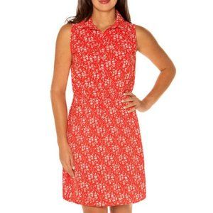 🦋 3/$30 Mario Serrani Floral Print Shirt Dress XL